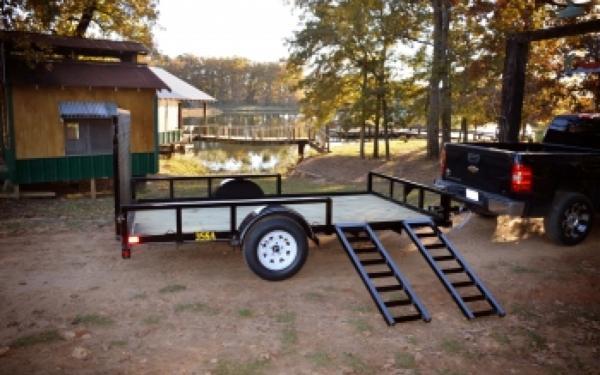 """Big Tex 35SA-RSX 83""""x12' Single Axle Utility Trailer"""