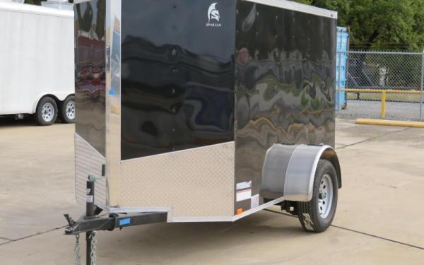 Spartan 5 x 8 Single Axle Black Cargo