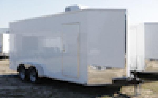 Spartan 6 x 12 Tandem Axle Cargo Trailer White