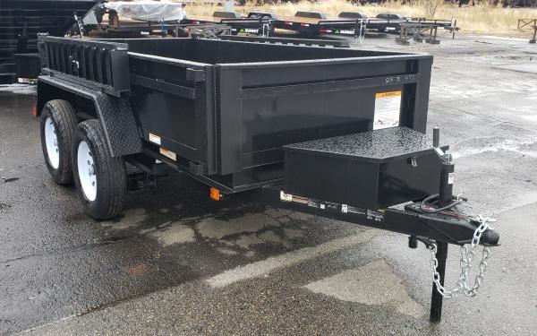 5x10 Carry-On Dump Trailer Tandem Axle 7k