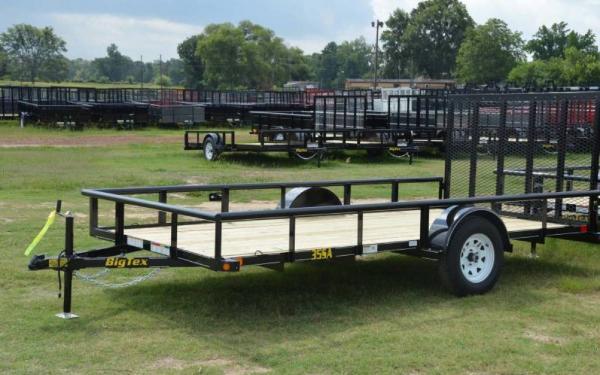 "Big Tex 77""x14' Single Axle Utility Trailer"