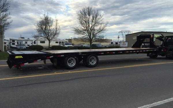 Big Tex B-22GN-20+5MR, 8.5 x 20 + 5 Gooseneck Trailer with Mega Ramps