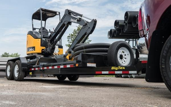 "Big Tex 14TL 83"" x 22 (16 + 6) Heavy Duty Gooseneck Tilt Bed Trailer"