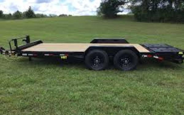 Big Tex 14ET 14K TAND EQUIP W/DT 83x20 MR DVT Mega Ramps, Black