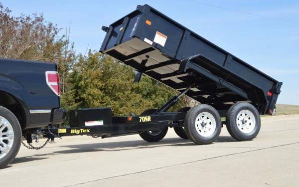 Big Tex 10-5W Tandem Axle Single Ram Dump