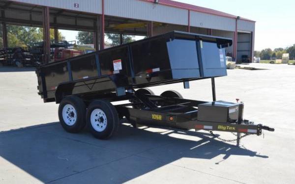 "Big Tex 83""x12' Tandem Axle Single Ram Dump"