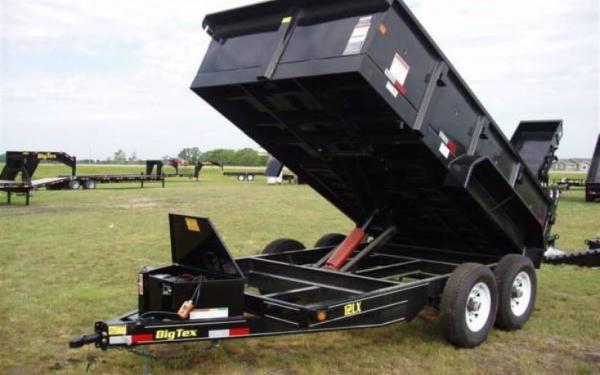 "Big Tex 83""x12' TAndem Axle Low Profile Extra Wide Dump"