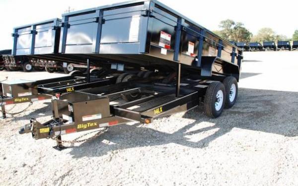"Big Tex 83""x14' Tandem Axle Low Profile Extra Wide Dump"