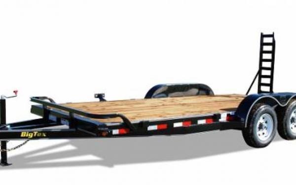 """Big Tex 83""""x20' Pro Series Tandem Axle Equipment Trailer w/5' Fold Up Ramps"""