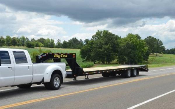 Big Tex 25'+5' Tandem Dual Axle Gooseneck
