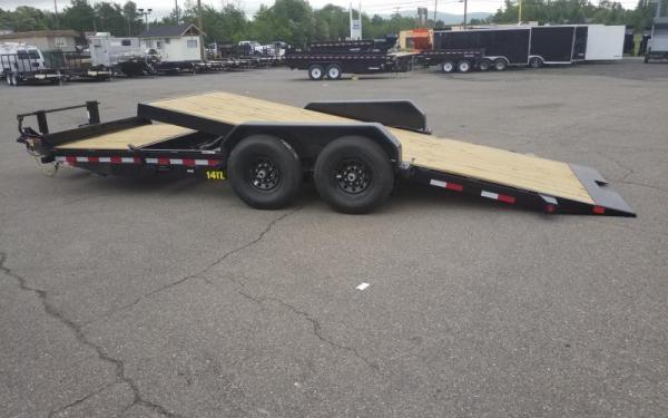 """Big Tex 14TL 83"""" x 22 (16 + 6) Heavy Duty Tilt Bed Trailer"""