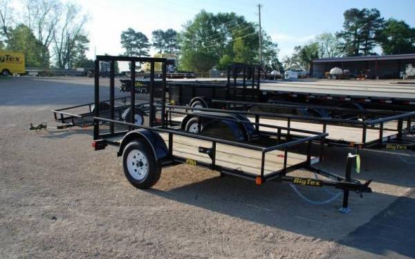 10' Big Tex Single Axle Utility Trailer