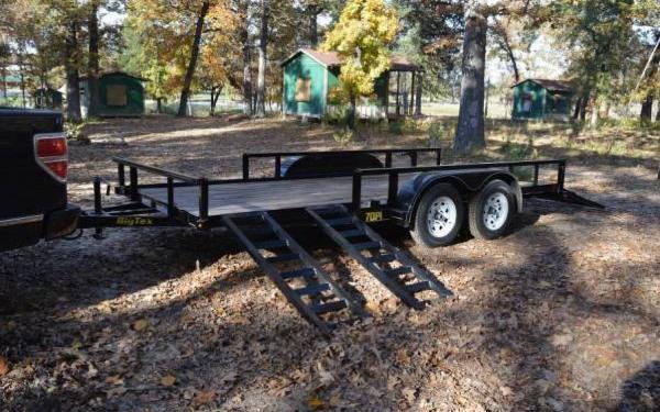 "83""x16' Big Tex Tandem Axle Pipe Utility Trailer w/SRamps"