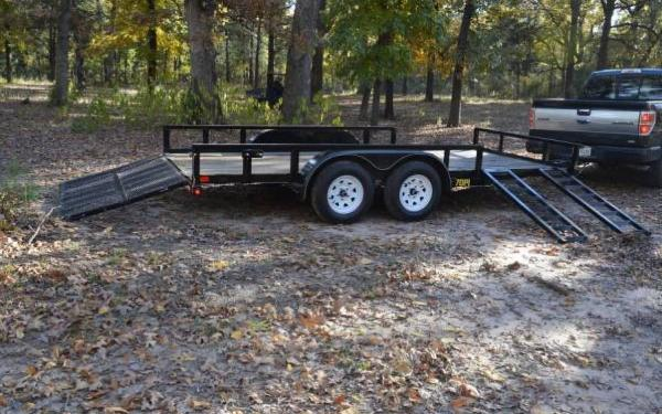 18' Big Tex Tandem Axle Pipe Utility Trailer w/Side Ramps