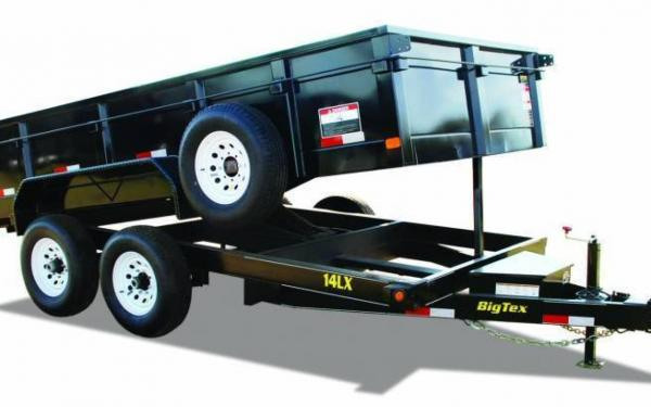 Big Tex 14' Tandem Axle Extra Wide Dump Trailer