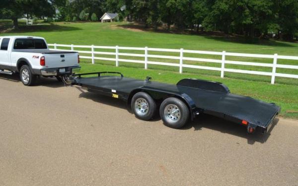 "70DM 83"" x18' Big Tex Tandem Axle Diamond Back Car Hauler"