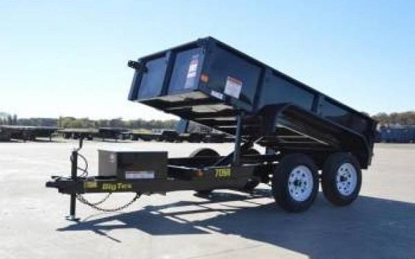 "Big Tex 70SR 60"" x 10 Tandem Axle Single Ram Dump"